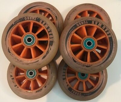 MPC Road War Turbos 110mm X Firm Used Inline Speed Wheels Plenty Of Life Left