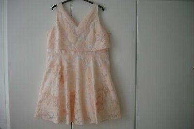 Coast Blush Apricot Peach Floral Party Wedding Bridesmaid Dress Uk Size 24 Bnwt