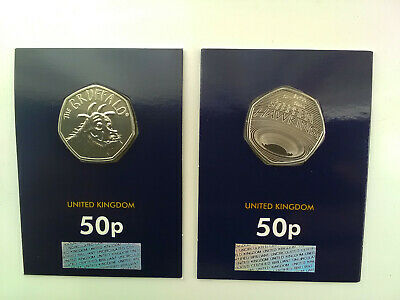 2019 gruffalo 50p and 2019 stephen hawking 50p certified bu fifty pence 2 coins