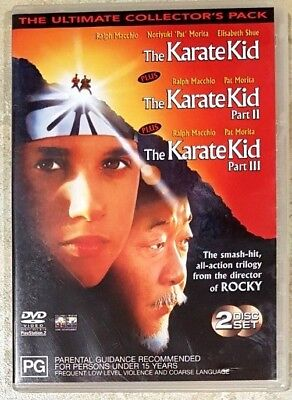 The Karate Kid Trilogy (Parts I, II and III) DVD in GREAT condition (Region 4)