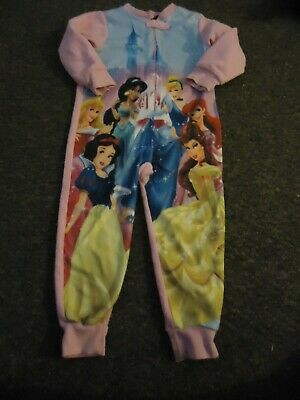 Primark long sleeve disney front print front zip  pink one piece age: 4/5 years