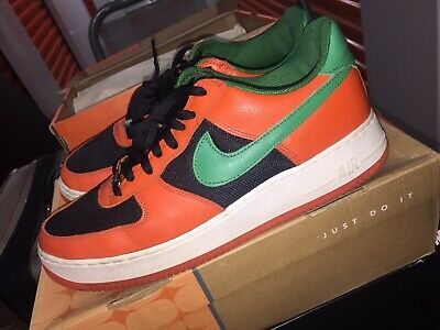 best sneakers 5996e 340c3 2003 Nike Air Force 1 Low CARNIVAL ORANGE FLASH GREEN BLACK WHITE  307334-831 12
