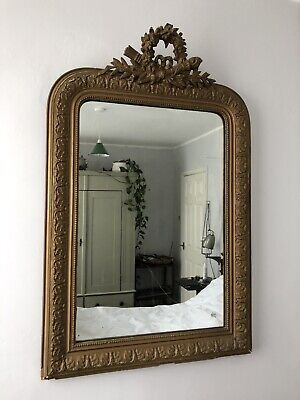 Antique French Louis Philippe Large Mantel Mirror