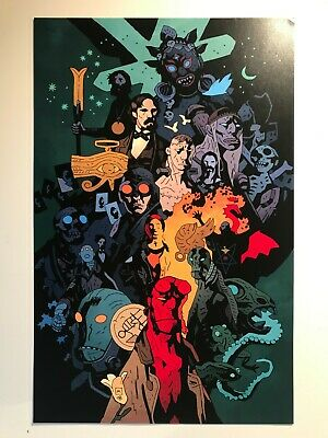 HELLBOY poster print w/ timeline * Mike Mignola B.P.R.D. Lobster Johnson 11 X 17