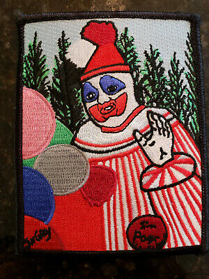 Embroidered Patch Pogo The Clown Artwork John Wayne Gacy Patches Killer Serial
