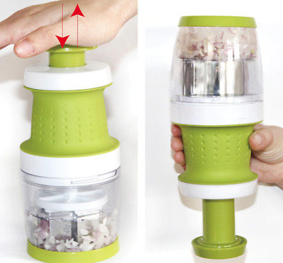 New Garlic Press Food Chopper Slap Chop Fruit Vegetable Grater Kitchen Tool
