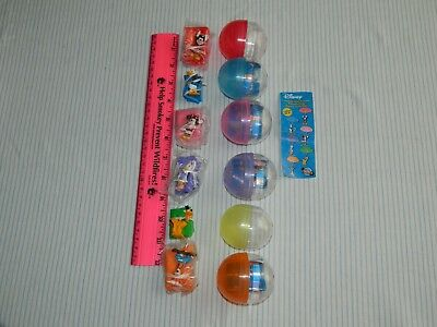 6 NOS Tomy Disney Gacha Mickey & Friends Parachuting Figure Collection Capsules