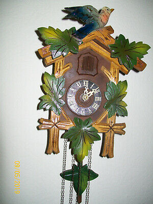 Antique Medium  Size Black Forest Style German Cuckoo Clock in working order
