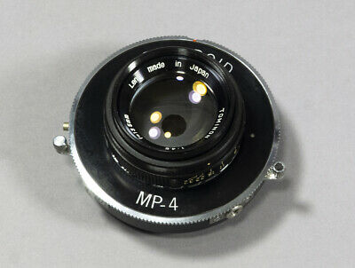 Coated Tominon 135mm f/4.5 Lens in a Polaroid MP-4 Shutter - 3x4, 4x5 Format