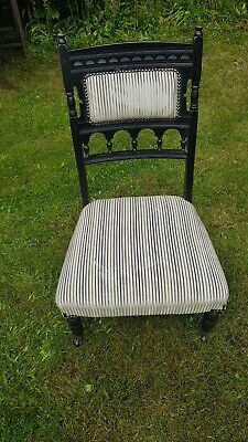 Antique Victorian Small Nursing chair with castors