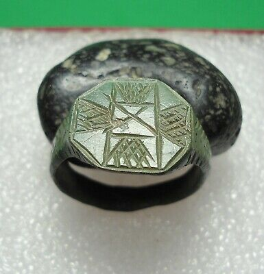 Ancient Roman Bronze Ring Original Authentic Antique Rare R728
