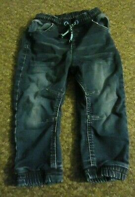 George elasticated waist stylish boys blue jeans age: 2/3 years
