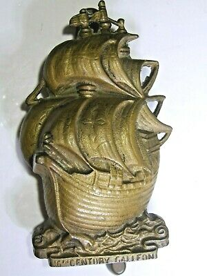 Brass Door Knocker 16th Century Galleon Tall sailing Ship - VINT. SOLID BRASS