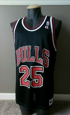 26bfc8616 Steve Kerr Chicago Bulls Champion Jersey 44 Black NWOT Retro NBA Golden  State
