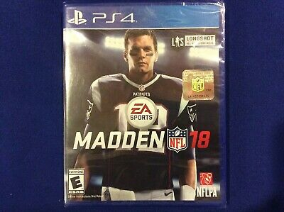 Madden NFL 18 Football Video Game PlayStation 4 PS4 BRAND NEW FACTORY SEALED T-2
