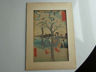 Vintage Asian Hand Painted Painting of Geisha Girls Japanese Chinese Signed