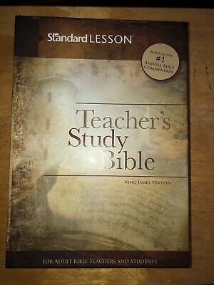 teachers study bible king james version in box (Like new)