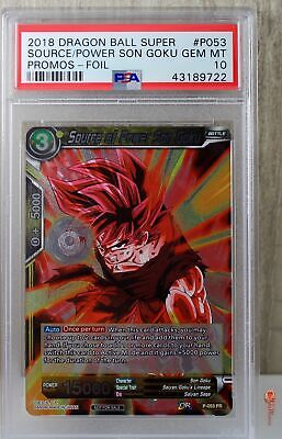 1x Source of Power Son Goku Promotion Cards Foil NM-Mint - P-053