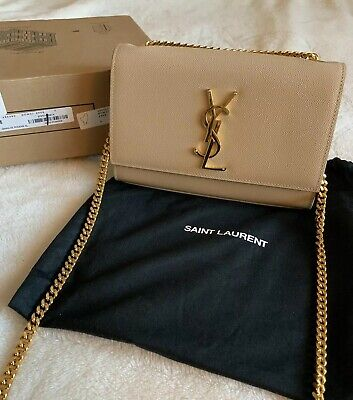 9c0b7dc73dd AUTHENTIC YSL SAINT Laurent New Small Kate Poudre Nude - $1,725.00 ...