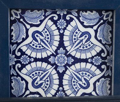 Wedgwood 1885 Dk Blue And White Floral Tile