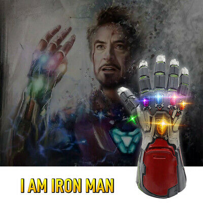 Avengers Endgame Infinity Gauntlet Glove Cosplay Iron Man Tony Stark LED Gloves