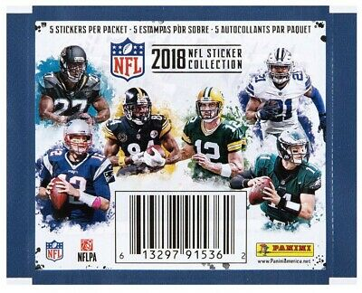 2018 Panini NFL Football Stickers (You Pick 7 Stickers) Complete Your Collection
