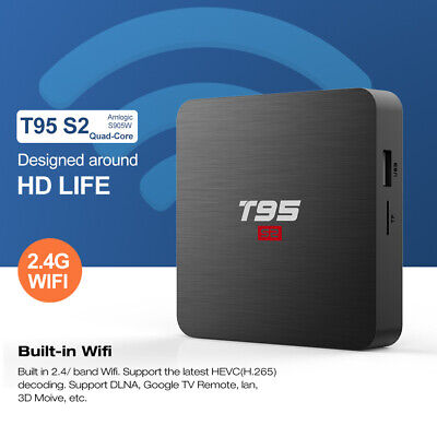 T95S2 Android TV Box with Android 7.1 Amlogic S905W Quad-Core 2GB RAM 16GB ROM
