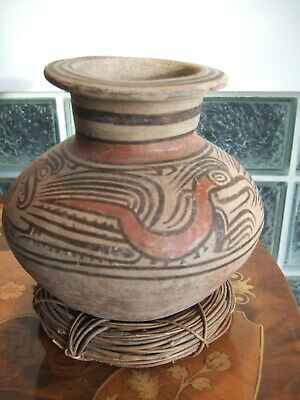 PreColumbian Polychrome Jar 4 alligators Tonosi Panama 300 to 500 AD