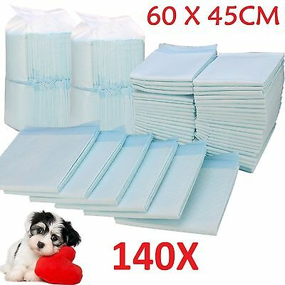 140 X Large House Puppy Dog Cat Pet Potty Training Pads Large Pee Train Pad Mats