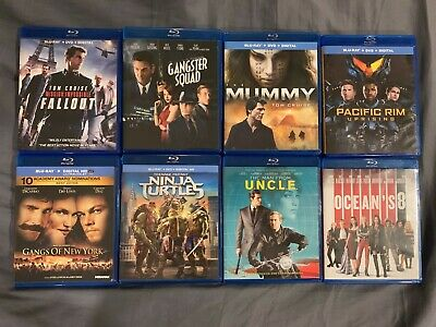 Lot of 8 Blu-Ray Movies - Pick 8 Bluray Movies Personal Collection No Duplicates