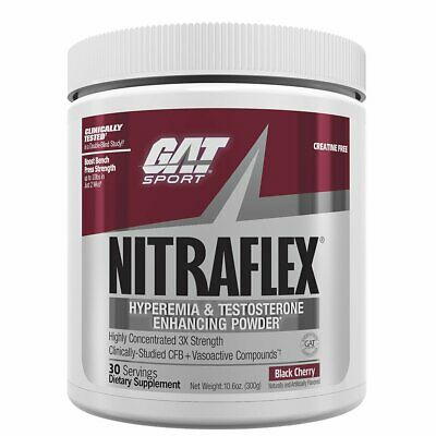 GAT Nitraflex Pre Workout (30 Servings) Best Price + All Flavors + FREE SHIPPING