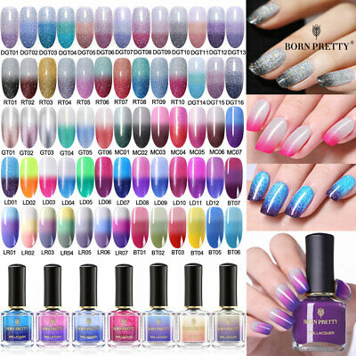 BORN PRETTY Colorful Nail Polish Thermal Color Changing Topcoat  Varnish
