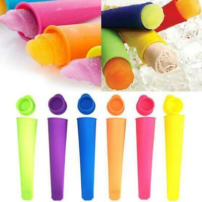 6 Pcs/set Silicone Popsicle Mold Ice Lolly Mold Ice Maker Snack Ice Cream Mold
