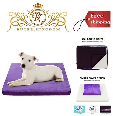 Dog Bed Mattress Washable Cover Home Foam Cushion Crate Cozy Soft Warm Mat Pad