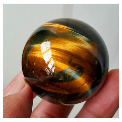 Rare Natural Tiger Eye Crystal Ball Gemstone Sphere Minerals Rock Healing Stone