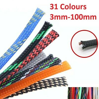 10M Various Sizes & Colors Braided Cable Sleeving/Auto Wire Harnessing/Sheathing