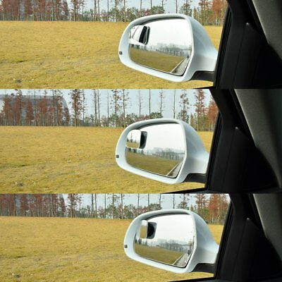 Adjustable 360 Degree Rotate Rimless Car Blind Spot Mirror Silence Sway #AM8Z