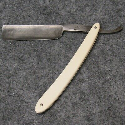 """Case Brothers Little Valley NY 6-1/4"""" Straight Razor 3/4"""" Blade White Celluloid"""