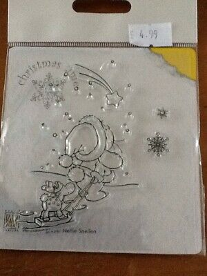 Nellie Snellen Mini Clear Cling Stamps Christmas Branches-2 MAFS008 4pcs