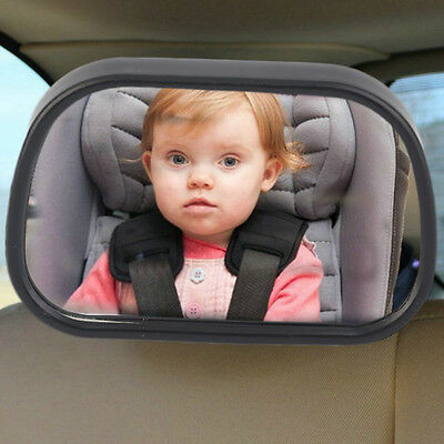 Car Rear Seat View Baby Child Safety Mirror Clip and Sucker Dual Mount FO