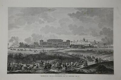 Bataille D`Heliopolis, 1800. Napoleon. Copperplate by Couche. Ca 1850