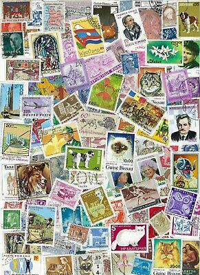 Worldwide 100 Different Stamps - many Countries, Many MNH - B.........D 19 Y 13