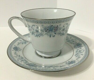 Noritake Blue Hill 2482 Coffee Cup & Saucer Retired Multiples Available EUC
