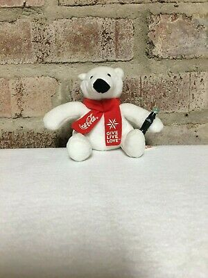 Coca Cola coke polar bear give live love small plush