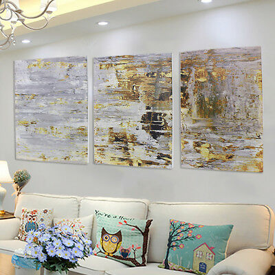 3Pcs 60x40cm Retro Abstract Canvas Print Oil Painting Wall Picture Home