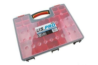 US Pro storage case with 20 removable bins B9041
