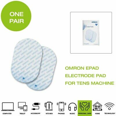 *Brand New* Omron EPAD Electrode Pads for Tens Machine, One Pair - White
