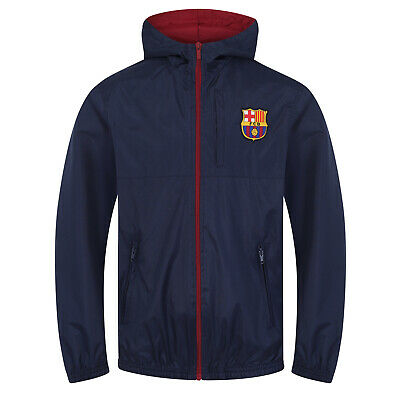 FC Barcelona Official Football Gift Boys Shower Jacket Windbreaker