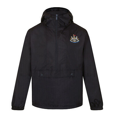 Newcastle United FC Official Gift Boys Half Zip Shower Jacket Windbreaker