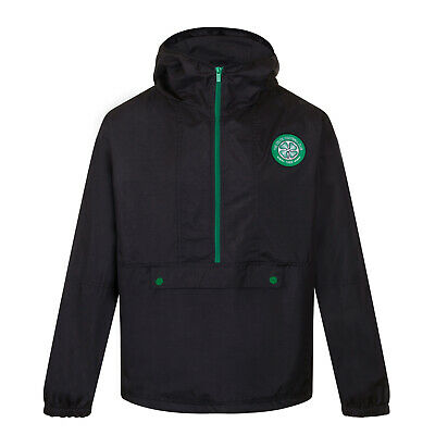 Celtic FC Official Football Gift Boys Half Zip Shower Jacket Windbreaker